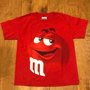 Other - M&Ms's youth red t shirt
